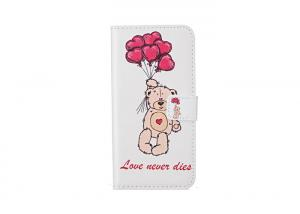 China Balloon Bear Personalized Smartphone Cases Tpu Material Flip Wallet Type on sale