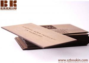 China Wooden Business Cards Unique Design/ Set of 20 Wooden Cards Unique business gift on sale