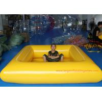 0.9 MM Pvc Tarpaulin Blue / Yellow Inflatable Swimming Pools Portable Above Ground