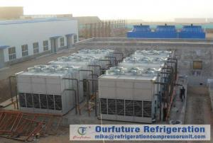 China Cold Storage Refrigeration System Evaporative Condenser Chiller Draft Type on sale