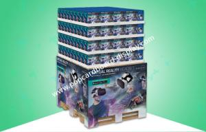 China Full - size Cardboard Pallet Display / Pallet Skirt For Promoting 3D VR Headset To BJ'S Store & Wal-mart Store on sale