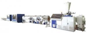 China UPVC / CPVC Plastic Pipe Production Line Double Vacuum Chamber Structure on sale