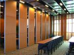 Acoustic Sliding Folding Partition Walls , Anti Noise And Fire Resistant Wall Panels
