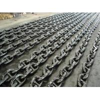 Professional Black Painted Boat Anchor Chain U3 Grade 27.5M / Length