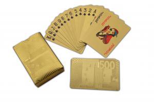China Naipe de oro plateado oro grabado del puente de la hoja de oro del color de 500 naipes del euro on sale