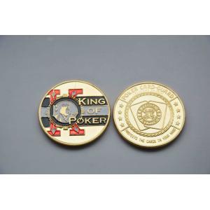 China Pièces de monnaie commémoratives d'or de garde de carte de jeton de poker avec l'écran en soie, impression offset on sale
