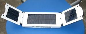 China foldable 12000 mah solar laptop chargers with 3 solar panels on sale