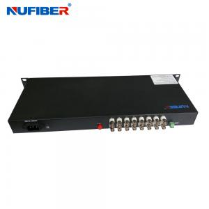 China Fiber Coaxial Video Converter 16BNC 1 Fiber Video Transmitter and Receiver for CCTV on sale