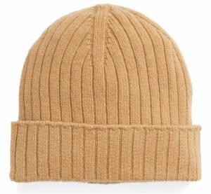 China Unisex Wool Winter Hat , Warm Custom Knitted Beanie Hats Plain Color Strings Buckle Closure on sale