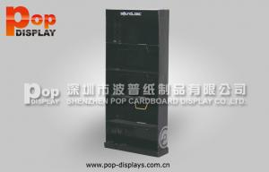 China Black Power Wing Corrugated Pop Display With 5 Shelves For Market Advertising on sale