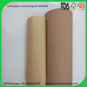 China BMPAPER China supplier wood pulp one side coated paper craft liner for cement bags on sale
