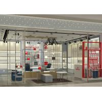 Luxury Retail Shoe Display Shelves , Footwear Display Fixtures Floor Mounted