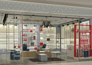 China Luxury Retail Shoe Display Shelves , Footwear Display Fixtures Floor Mounted on sale