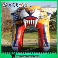 China Inflatable Tiger Head Entrance Tunnel Arch on sale