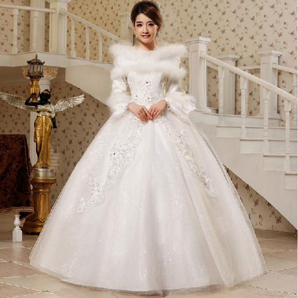 High Neck White Cotton Wedding Dresses for sale – White Cotton ...