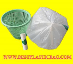 China HDPE LDPE tall kitchen garbage bags drawstring trash bags draw tape rubbish bags on sale