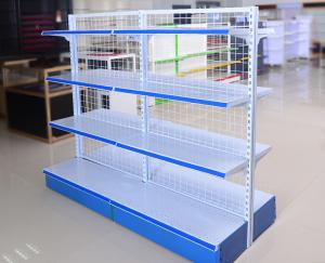 China Chain Store Supermarket Display Shelving Wire Mesh Storage Shelves Light Duty on sale