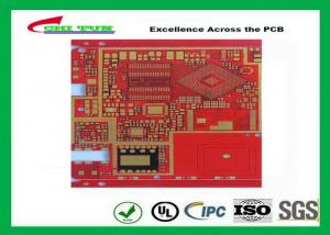 China Red 4 Mil Drill 8 Mil Impedance control Multilayer PCB 6 Layer Custom Made on sale