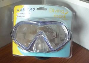China Blue Water Sports Diving Equipment Dive Mask Swimming Goggles Silicone Strap on sale