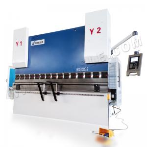 China HARSLE Electric-Hydraulic CNC metal sheet carbon steel bending machine with DA52S control system on sale