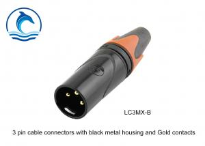 China 3 Pin LC3MX-B Male To Male XLR Connector Communications Application Waterproof Connectors on sale