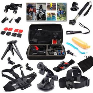 China Chest Head Belt Strap Mount+Floating Handle+Monopod+Helmet Strap+Storage Case For GoPro Action Camera on sale