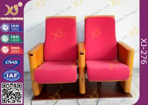 China Wooden Armrest Church Hall / Concert Hall Seating With USB Hub On The Leg on sale