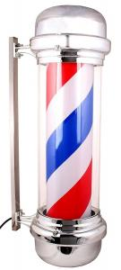 China IP44 Waterproof LED Barber Pole Hair Salon Porch Open Sign Red White Blue 110V on sale