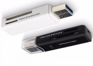 China USB2.0 / USB3.0 Micro USB Card Reader , Super Slim USB Tf Card Reader For CF Card on sale