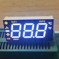 Multicolour  Triple  Digit 7 Segment LED Display For Refrigerator with 90 degree pin bending
