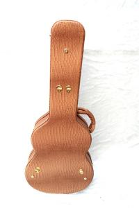 China Yellow Wooden Acoustic Guitar Case For Musical Instruments Water Resistant on sale