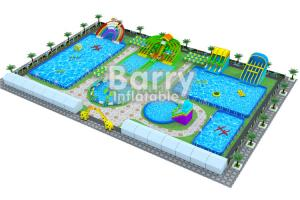China Outside Customized Family Fun Inflatable Water Park Games On Land on sale