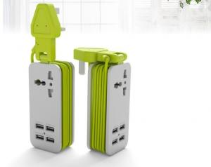 China Multi Function Portable Remote Controlled Power StripWith International Plug Adapter on sale