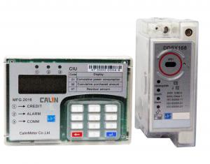 China Compact Single Phase Kwh Meter Din Rail Digital Electric Meter Remote Control on sale