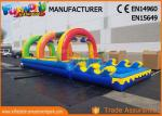 Outside Pvc Tarpaulin Commercial Inflatable Slide With Pool 10 * 3 * 2.5m