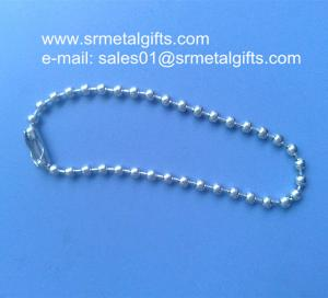 China Precut steel bead chain with connector custom steel ball chains on sale