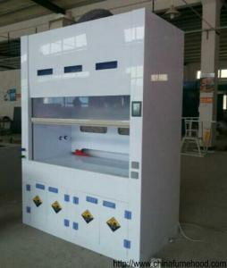 China School PP Fume Hood Laboratory Equipment, Lab Fume Cupboard With Faucet / Sink on sale