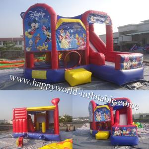 China mickey mouse bounce house , mickey mouse clubhouse bounce house slide combo on sale