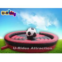 400KG Soccer Shape Mechanical Rodeo Bull Fiberglass For School Event