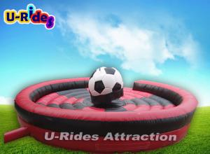 China 400KG Soccer Shape Mechanical Rodeo Bull Fiberglass For School Event on sale