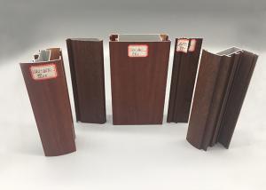 China Smooth Wood Finish Aluminium Profiles Alkali Resisting Mechnically Polishing on sale