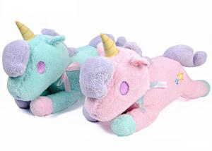 China Stuffed Animal Cute Plush Pillows / Pink Unicorn Slippers For Child Toy on sale