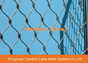 China Flexible Stainless Steel Wire Rope Diamond Architectural Mesh on sale