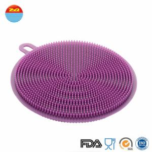China as seen on tv 2018 Durable Eco-friendly Soft Silicone household items Cleaning Brush sponge on sale
