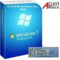 OEM COA License Sticker Windows 7 Professional Product Key Retail Version
