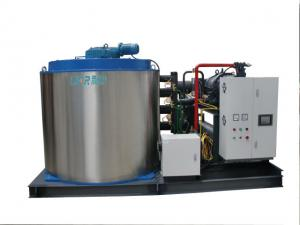 China R404A Fish Ice Machine For Meat Processing Plants , 1.8mm - 2.5mm on sale