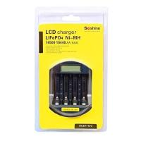 LiFePO4 14500/10440 NiMH AA/AAA LCD Quick Battery Charger(USB 5V+DC 12V)|