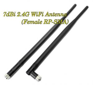 China 7dBi 2.4G Wifi Antenna Booster RP-SMA For Linksys Router Receiver IP Camera x 2 on sale
