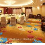 Hot sales bright color flower printed luxury hotel carpet