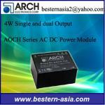 普遍的な入力範囲90-305VACの47-440 Hzの供給のアーチ4W 14V AC DC電源モジュールAOCH-14S